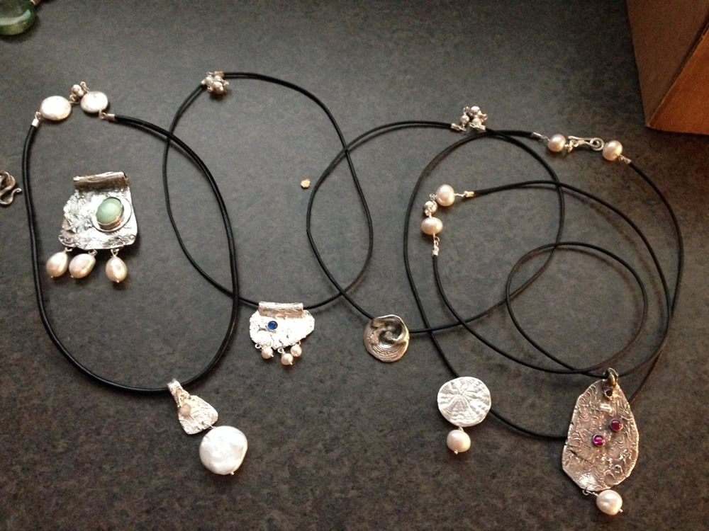 Assorted Fine Silver Pendants 1