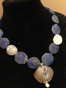 Lapis Shells with Pearl